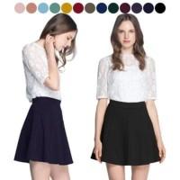 Jual A line skirt Rok mini wanita Korea Rok pesta pendek AllSize Impor Murah