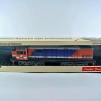 Jual miniatur kereta api - Lokomotif CC201 KAI Merah biru (Papercraft) Murah