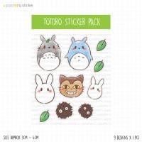 SP001 - Kawaii/Cute Totoro Ghibli - Planner Sticker / Bullet Journal