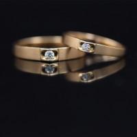 Cincin Berlian Diamond Emas - Kawin, (Wedding Ring)101 - Murah Bandung