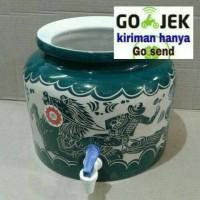 guci air,guci galon/guci keramik gambar ukir trisensa