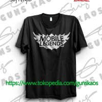 Jual Kaos Distro Sablon Polyflex Game Games Mobile Legend 2 Murah
