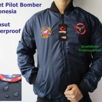 Jual BARU !! Jaket Bomber Pilot USA Jerman Rusia Indonesia + Emblem , Murah Murah