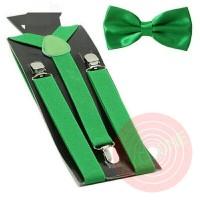 Jual suspender dasi kupu dewasa atau anak warna hijau, paket hemat Murah