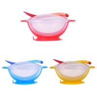 Baby Suction Bowl Set Heat Sensing Mangkuk Mangkok Bayi Anti Tumpah