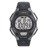 Timex Men's T5E901 Ironman Classic 30 Full-Size Black/Grey Resin Strap
