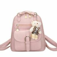 KG 21882 Pink - Tas Ransel Backpack Wanita Warna Pink Pastel
