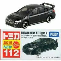Subaru WRX STI Type S no 112 Black Tomica Takara tomy