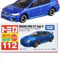 Subaru WRX STI Type S no 112 Blue Tomica Takara tomy