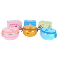 Jual Hot 1 Susun Rantang Bulat Lunch Box Hello Kitty Doraemon Rilakuma Murah