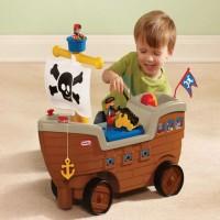 Mobilan Anak Little Tikes Scoot n Pirate Ship Bajak Laut