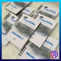 Contoh Notebook Custom A6, Graduation Arsitek Unpar
