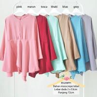 Jual Mosscrepe office top peplum blouse / baju atasan wanita busui top 5206 Murah