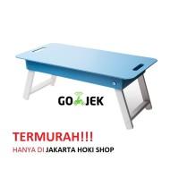 Meja lipat / Meja anak / Meja laptop (Biru)