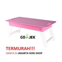 Meja lipat / Meja anak / Meja laptop (Pink)