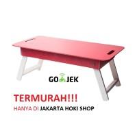 Meja lipat / Meja anak / Meja laptop (Merah)
