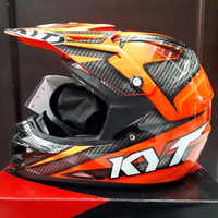Helm Full Face Kyt Cross Over Super Fluo Power Series