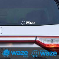 Sticker Mobil Waze User Stiker Cutting Kaca Belakang GPS Map Google
