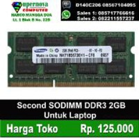 RAM Laptop DDR3 2GB Second