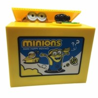 Jual Minion Stealing Coin Bank Steal Money Saving Box Fun Toy Murah