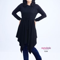 Mamalooks Baju Hamil Tunik ELSA Hitam Size S/M