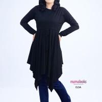 Mamalooks Baju Hamil Tunik ELSA Hitam Size L/XL