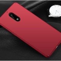 Hardcase PC Coating Dove Slim Matte Red Hard Case Cover Casing Nokia 6