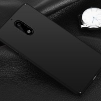 Hardcase Slim Coating Dove Matte Black Hard Case Cover Casing Nokia 6
