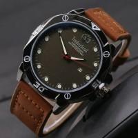Jam tangan timberland pria murah / jtr 1018 coklat muda plat hitam