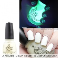 China Glaze - Glow in the Dark Top Coat Ghoulish Glow
