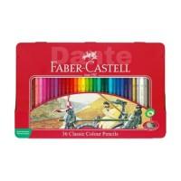 Pensil Warna 36 Faber Castell Classic Kaleng
