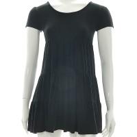 Dress Lengan Pendek/Terusan/Hitam/Model Baby Doll/Cotton/Free Size