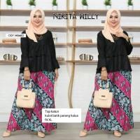Baju Setelan Wanita Celana Panjang Dan Blouse Batik nikita willy