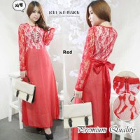 Hotlist terlaris [Long red ross FT] dress wanita sifon merah koleksi