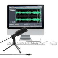 USB Recording Chatting Audio Karaoke Studio Microphone Mic PC Laptop