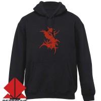 Hoodie Sepultura Logo - Hitam