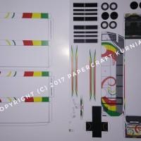 Jual Pola Papercraft Bus NPM Murah
