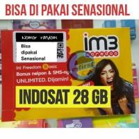 kartu perdana internet indosat 28gb 28 gb kuota data im3 20 gb 4g