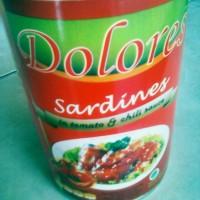 Dolores Ikan Sarden Kaleng Siap Saji / 425 gram / Halal EXP 2018