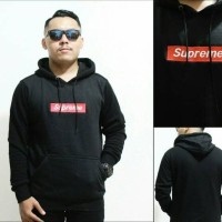 Jual jaket sweater hoodie supreme logo box bordir Murah