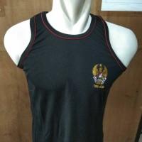 singlet TNI AD Hitam Logo Kecil l Kaos Singlet TNI AD
