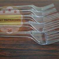 Garpu Makan Plastik - Bening