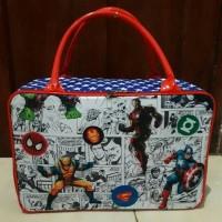 Jual Travel bag/tas travel koper kotak renang kanvas superhero/spiderman Murah