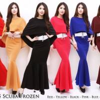 Jual Dress Scuba Frozen 1345 (Minimal 6 warna ) Murah