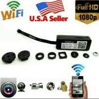 SPY CAM PINHOLE WIFI MODEL KANCING BAJU mini ip camera button wireless