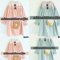 Jual Baju Wanita/Casual/Tunik/Blouse/Sabrina Mini Dress Murah