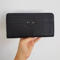 dompet fossil maddox black genuine leather