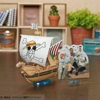 Action Figure One Piece Kapal Going Merry 20th Anniversary Ori Bandai