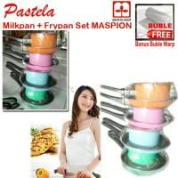 Jual Milkpan + Frypan Pastela / Fry pan set Milk Pan set Maspion 20cm+14cm Murah