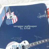 wallpaper motif gitar lolipop